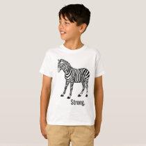 Zebra Strong Kids Unisex Shirt