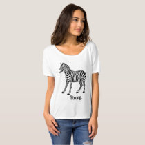 Zebra Strong Loose Womens Top