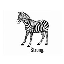 Zebra Strong Postcard