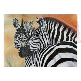 """Zebra Sunset"" Greeting Card"