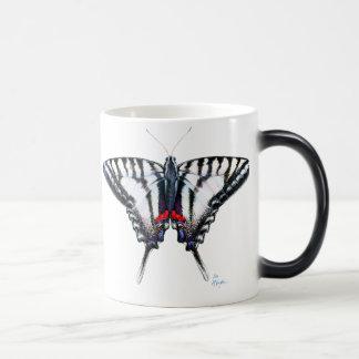 Zebra Swallowtail Butterfly 11 Oz Magic Heat Color-Changing Coffee Mug