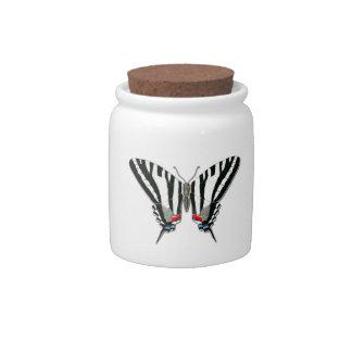 Zebra Swallowtail Butterfly Candy Jar