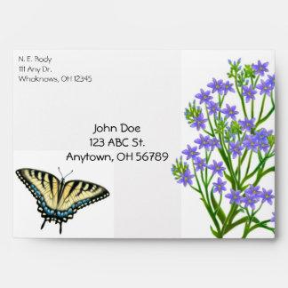 Zebra Swallowtail Butterfly Envelope