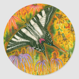 Zebra Swallowtail Stickers
