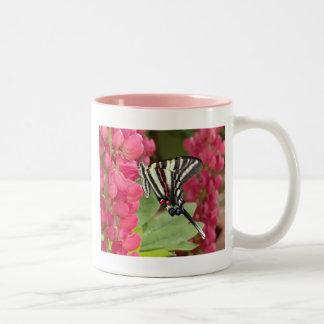 Zebra swallowtail Two-Tone coffee mug