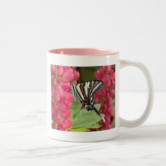 Zebra swallowtail Two-Tone coffee mug