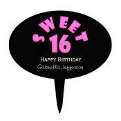 Zebra Sweet 16 Cake Pick
