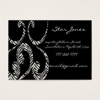 Zebra Swirls Business Card