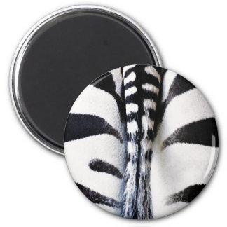 Zebra Tail Black & White Magnet