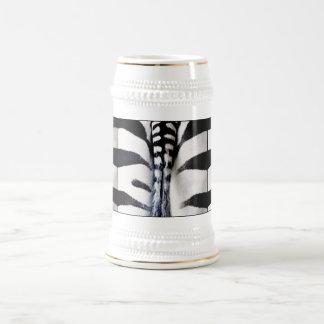 Zebra Tail Bottoms Up Stein