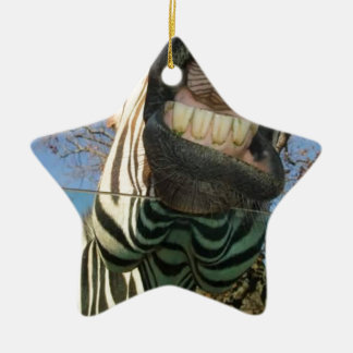 Zebra Teeth Ceramic Ornament