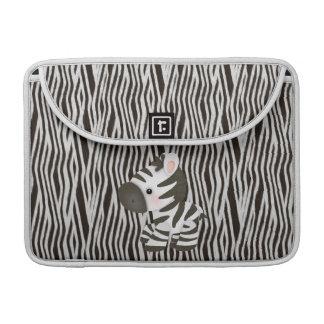 Zebra & Texture Animal Print MacBook Sleeve