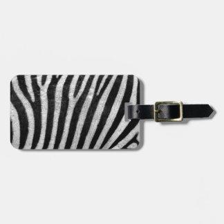 Zebra Texture Bag Tags