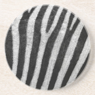 Zebra Texture Beverage Coasters