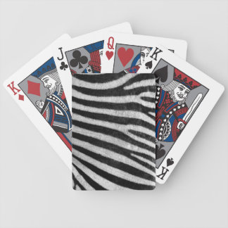 Zebra Texture Bicycle Playing Cards