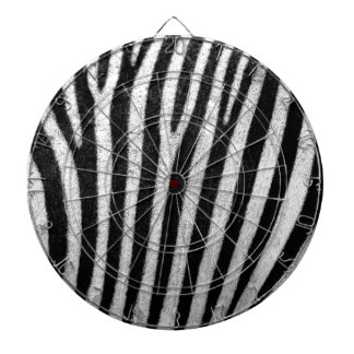 zebra texture black and white love and hate dartboard with darts