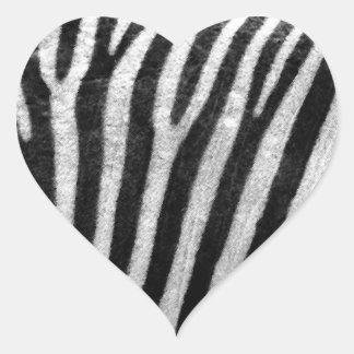 Zebra Texture Heart Sticker