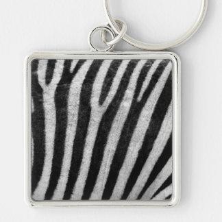 Zebra Texture Key Chain