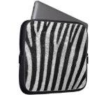 Zebra Texture Laptop Computer Sleeve