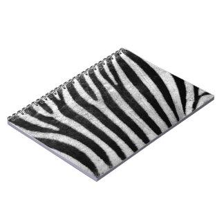Zebra Texture Spiral Notebook