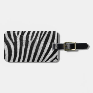 Zebra Texture Tag For Bags