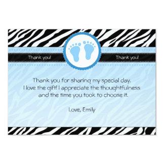 Zebra Thank You Card Baby Boy Shower