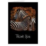 Zebra Thank You Cards