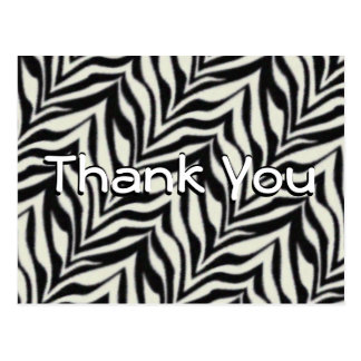 Zebra Thank You Postcard or any occasion