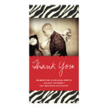 ZEBRA THANKS CUSTOMIZED PHOTO CARD