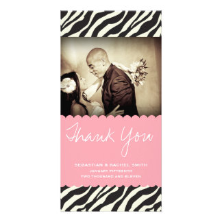 ZEBRA THANKS PICTURE CARD