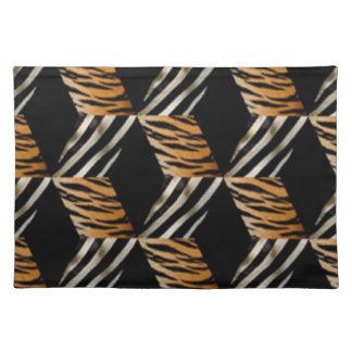 Zebra & Tiger Print Placemat