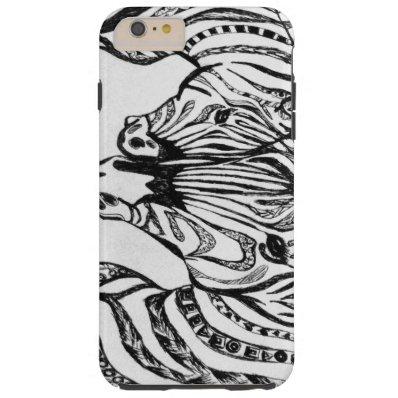 Zebra Tough iPhone 6 Plus Case
