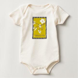 Zebra Tranquili-tea Baby Bodysuit