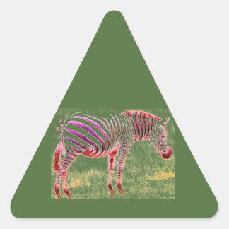 zebra triangle sticker