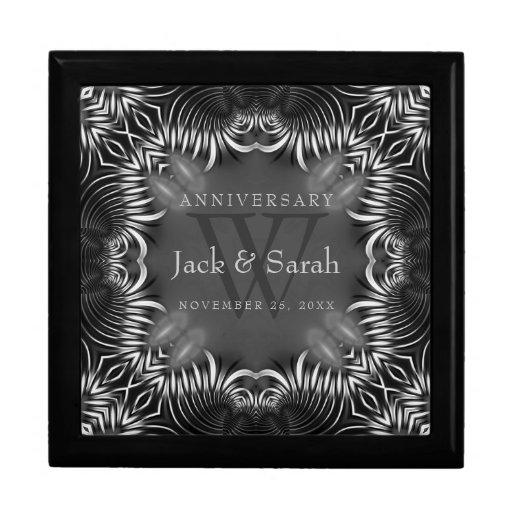 Zebra Tribal Lace Wedding Anniversary Gift Box
