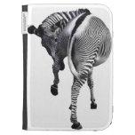 Zebra turning around kindle folio case