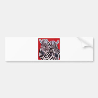 Zebra Twins Bumper Stickers