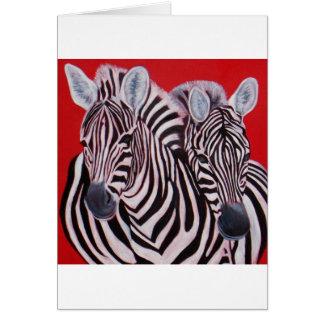 Zebra Twins Card