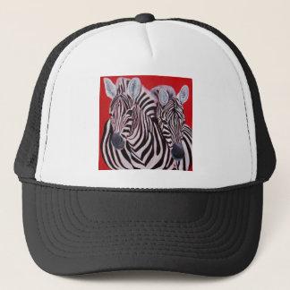 Zebra Twins Trucker Hat