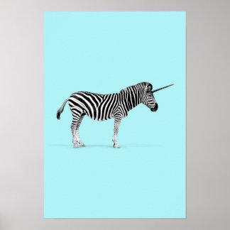 Zebra unicorn poster