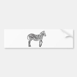 Zebra vector bumper sticker