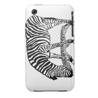 zebra vertikal Case-Mate iPhone 3 case