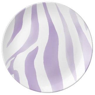 Zebra Viola acqua / White Dinner Plate