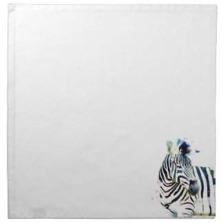 Zebra Watercolor Cloth Napkins