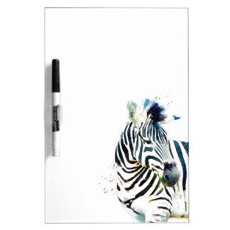 Zebra Watercolor Dry Erase Whiteboard