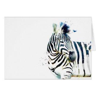 Zebra Watercolor Greeting Card