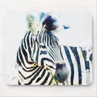 Zebra Watercolor Mouse Pad