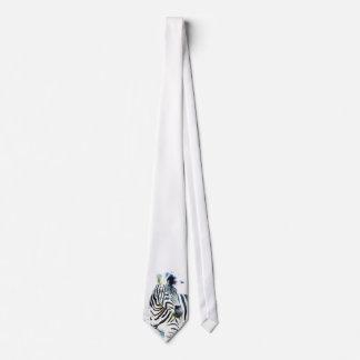 Zebra Watercolor Neck Tie