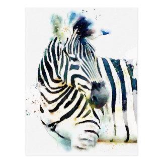 Zebra Watercolor Postcard