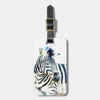 Zebra Watercolor Tag For Bags